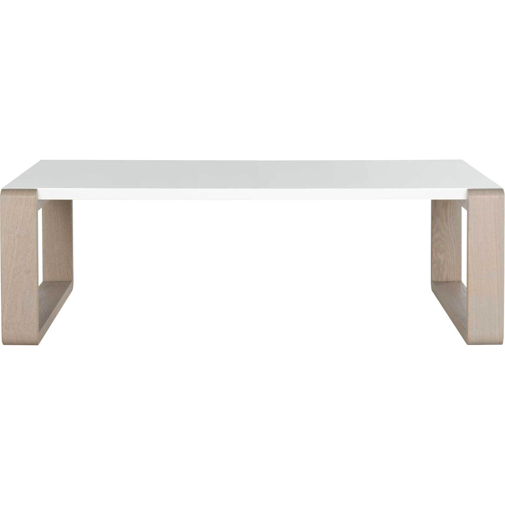 Balin Lacquer Coffee Table White/Gray