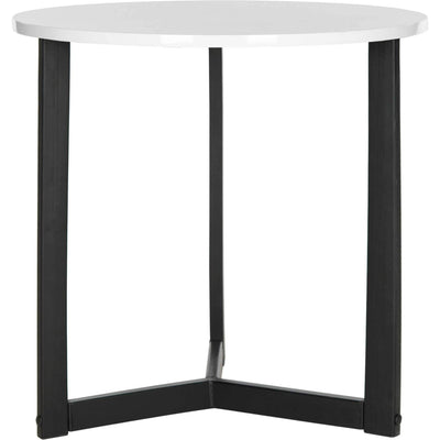 Leala Wood End Table White