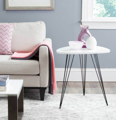 Wyatt Lacquer End Table White