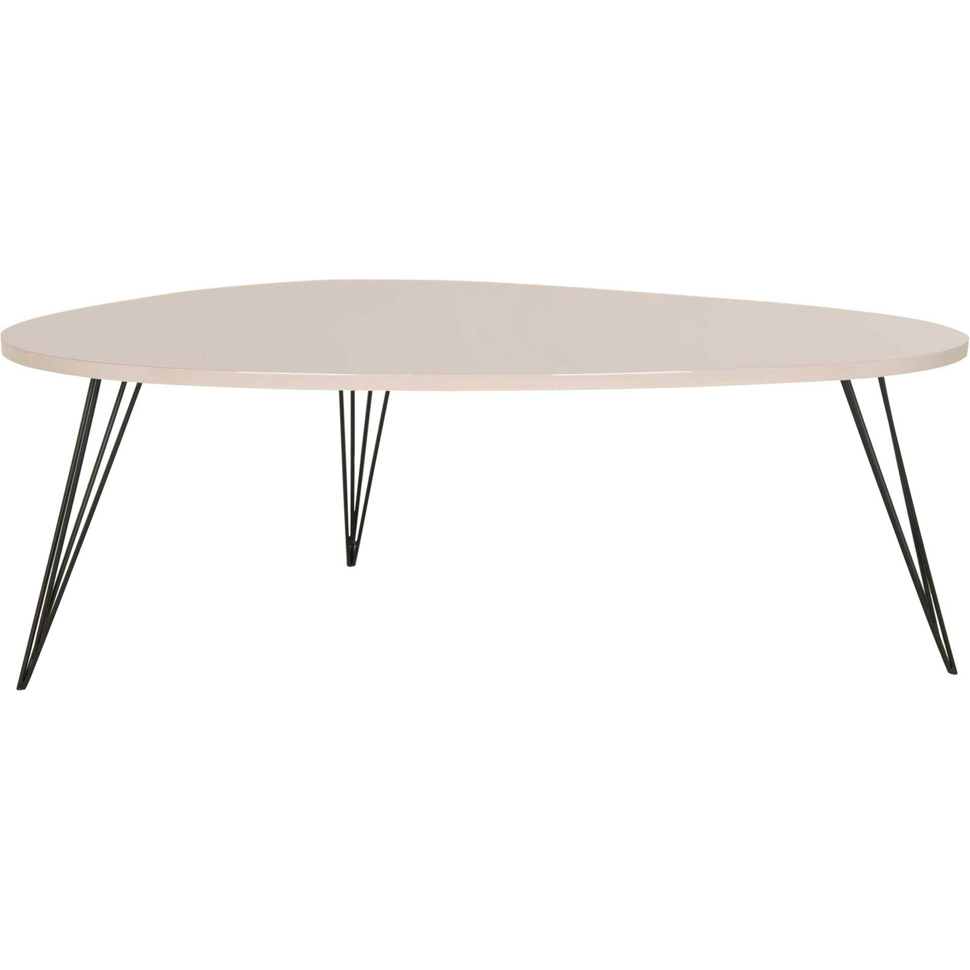 Wyatt Lacquer Coffee Table Taupe