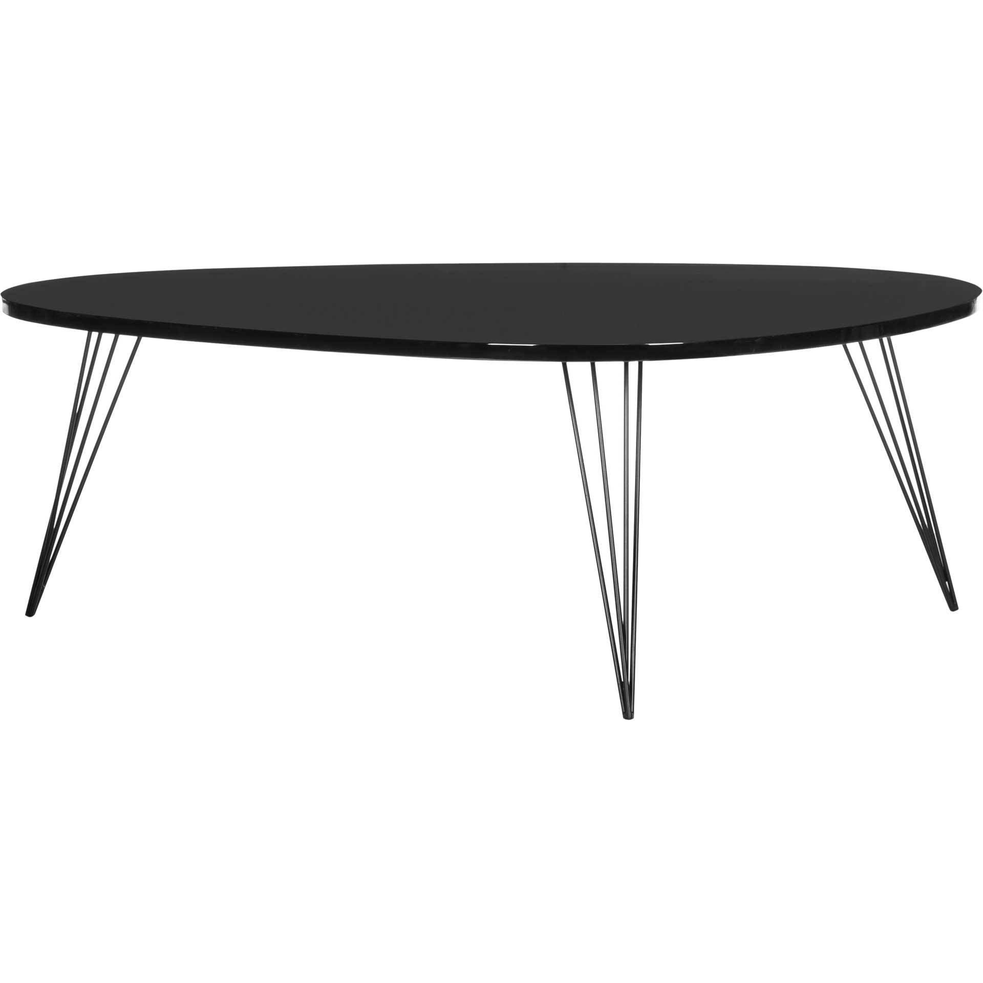 Wyatt Lacquer Coffee Table Black