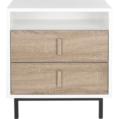 Kevin Lacquer Two Drawer Cabinet