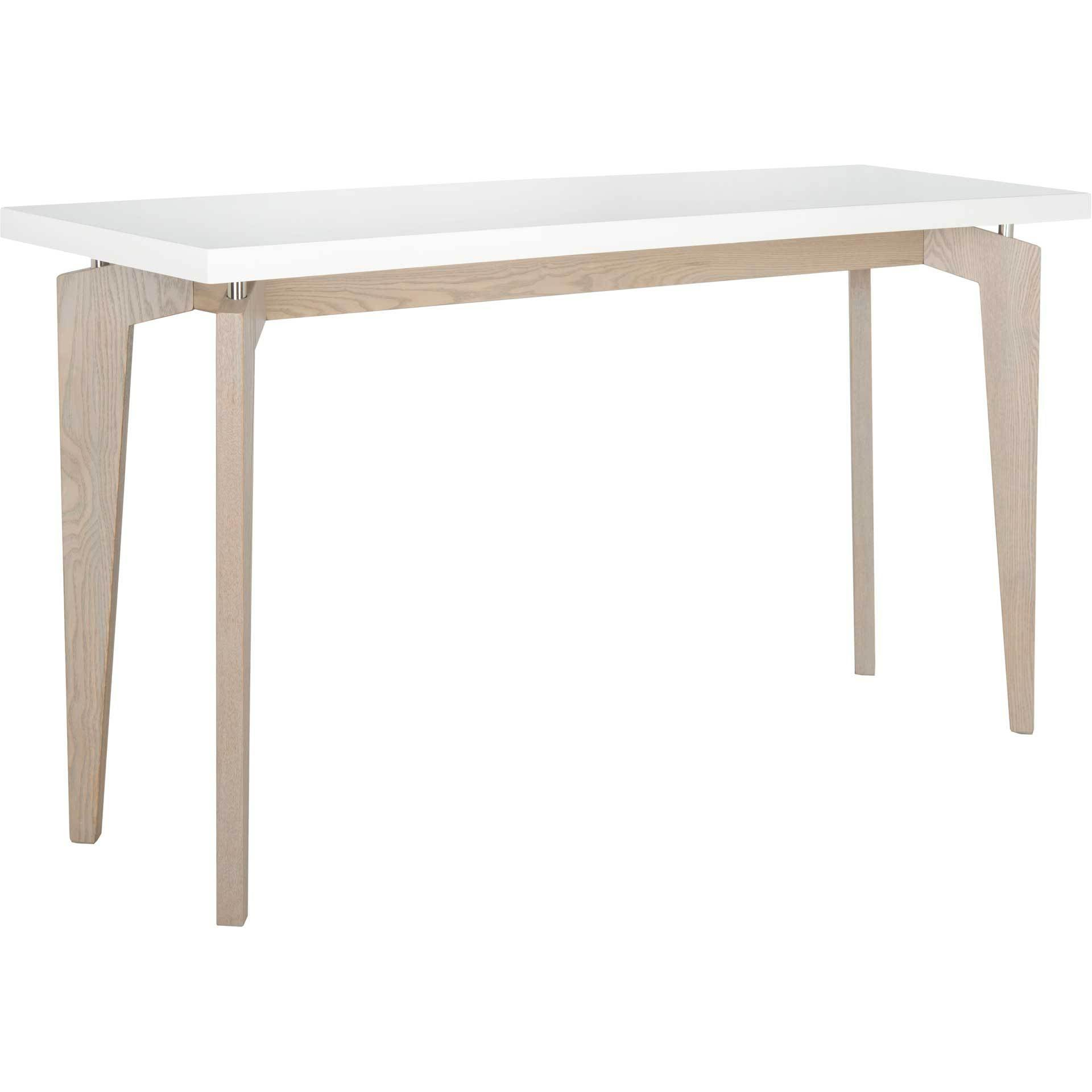 Joziah Lacquer Floating Top Console White/Gray