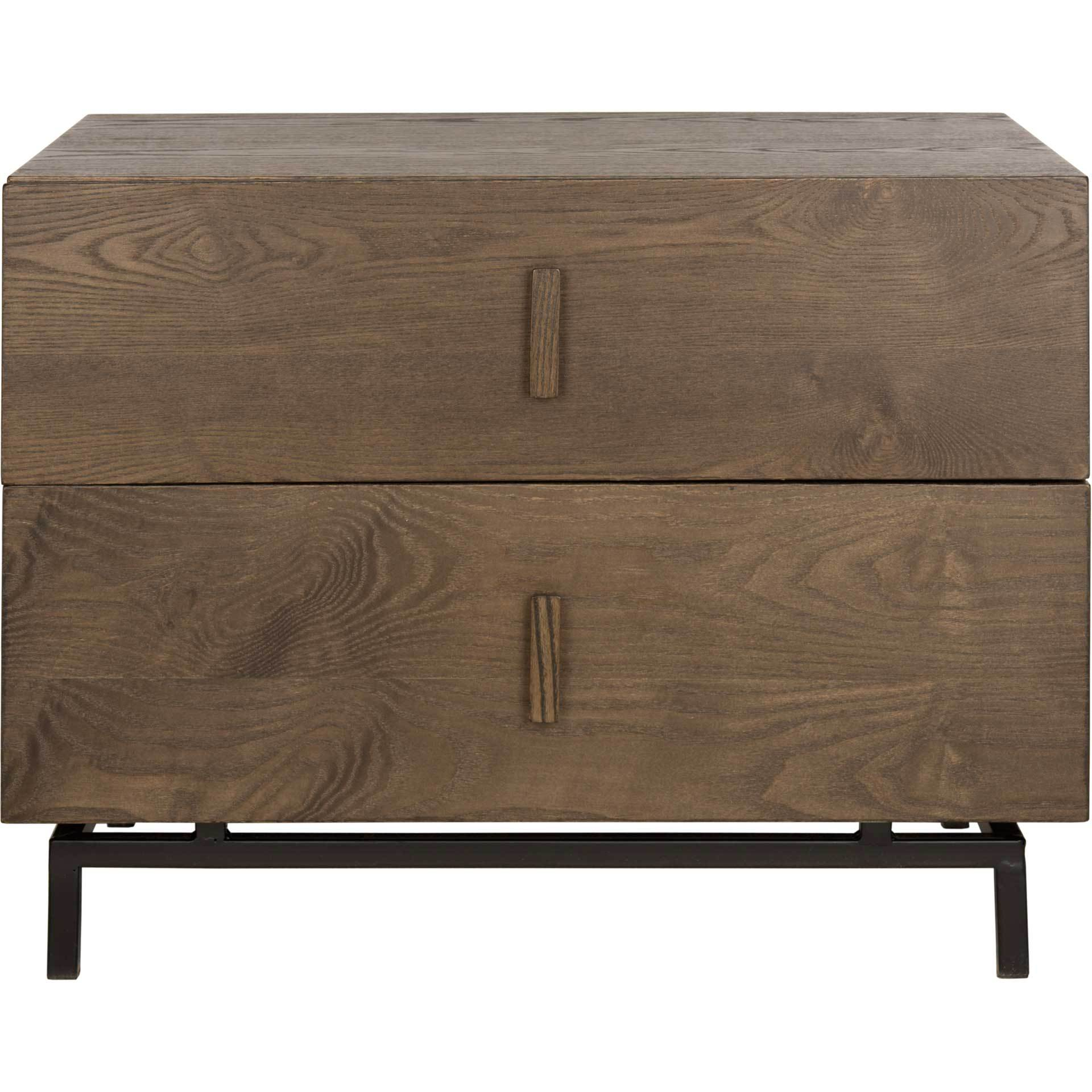 Heaven Lacquer Two Drawer Cabinet Dark Brown