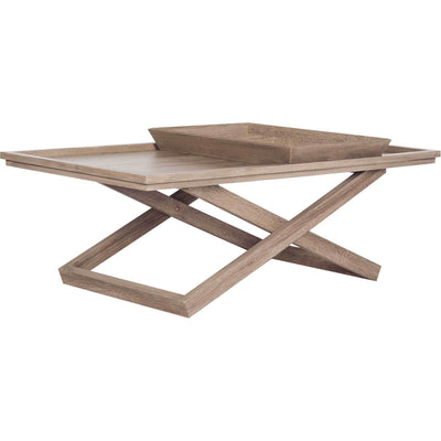 Arthur Cross Leg Coffee Table With Tray