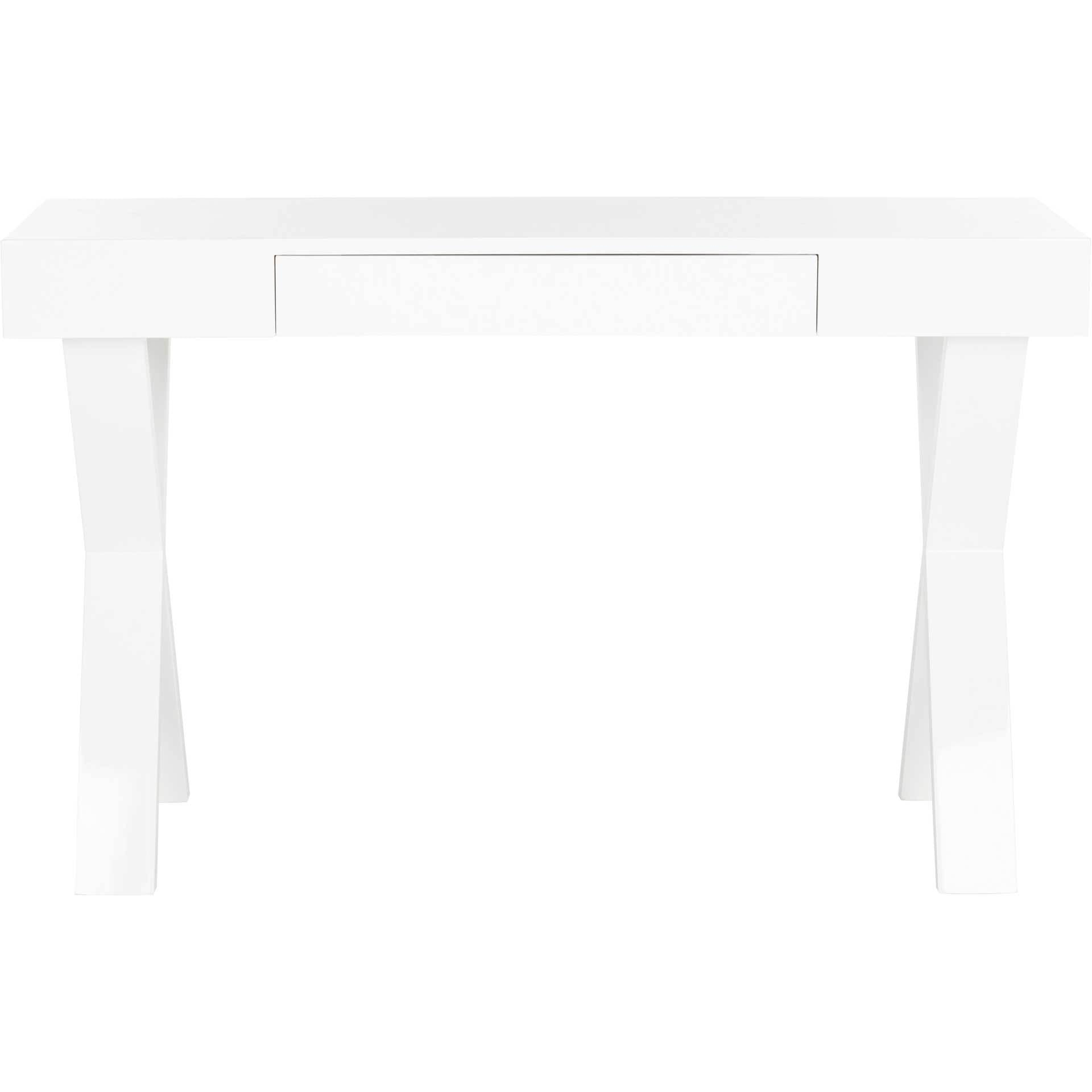 Alena Lacquer One Drawer Vanity Desk