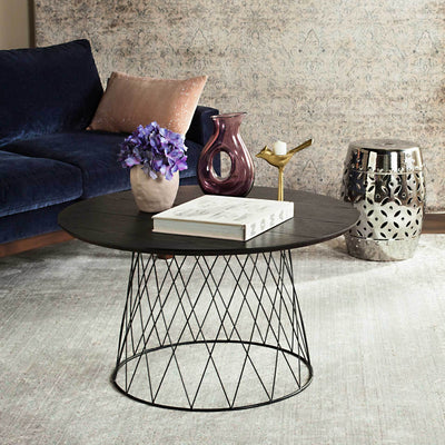 Rocky Wood Coffee Table Black