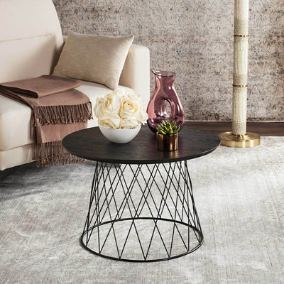 Rogelio Wood End Table Black