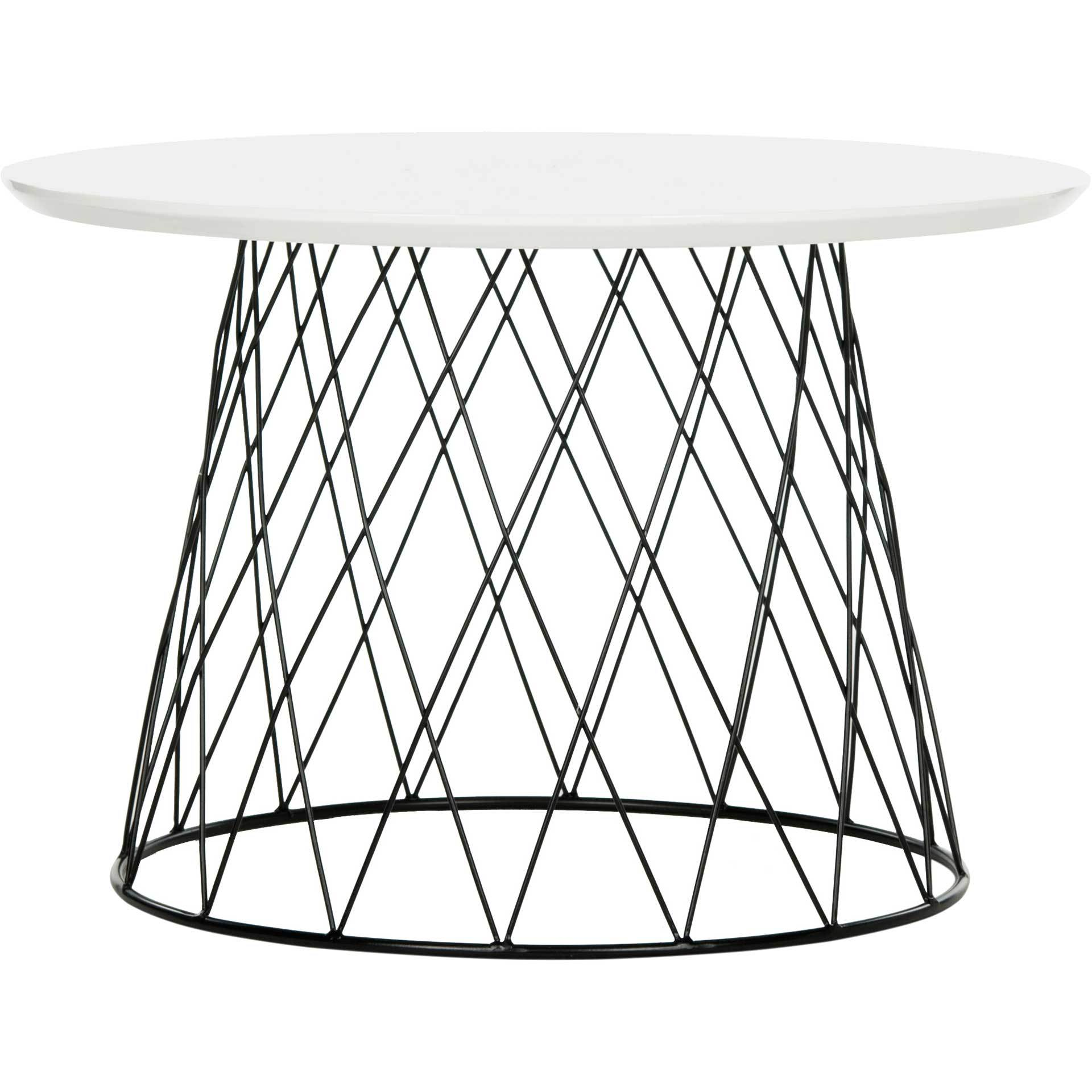 Rogelio Lacquer End Table White/Black