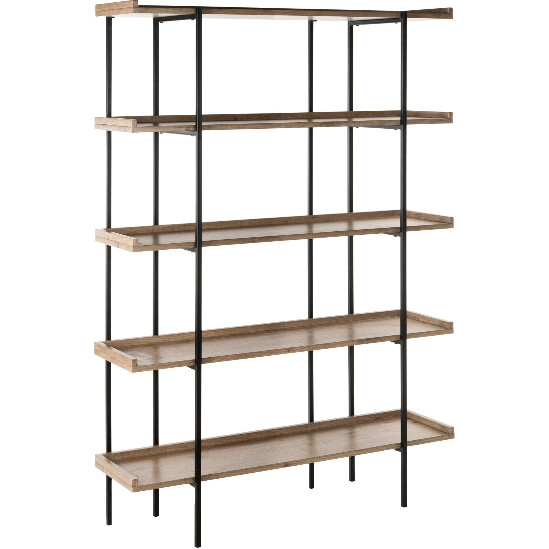 Cesta Wood Etagere Oak/Black