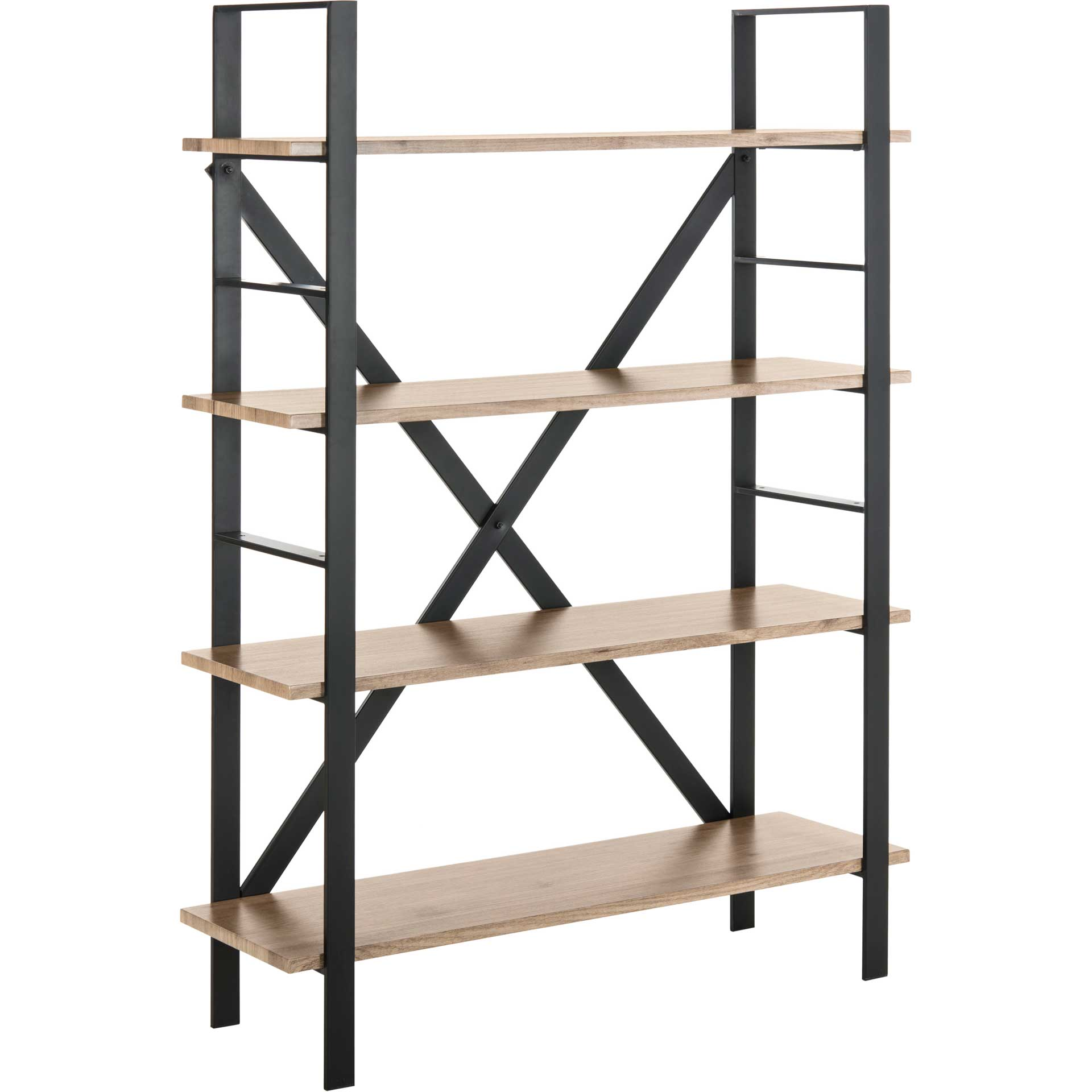 Rachel Retro 4 Tier Etagere Oak/Black