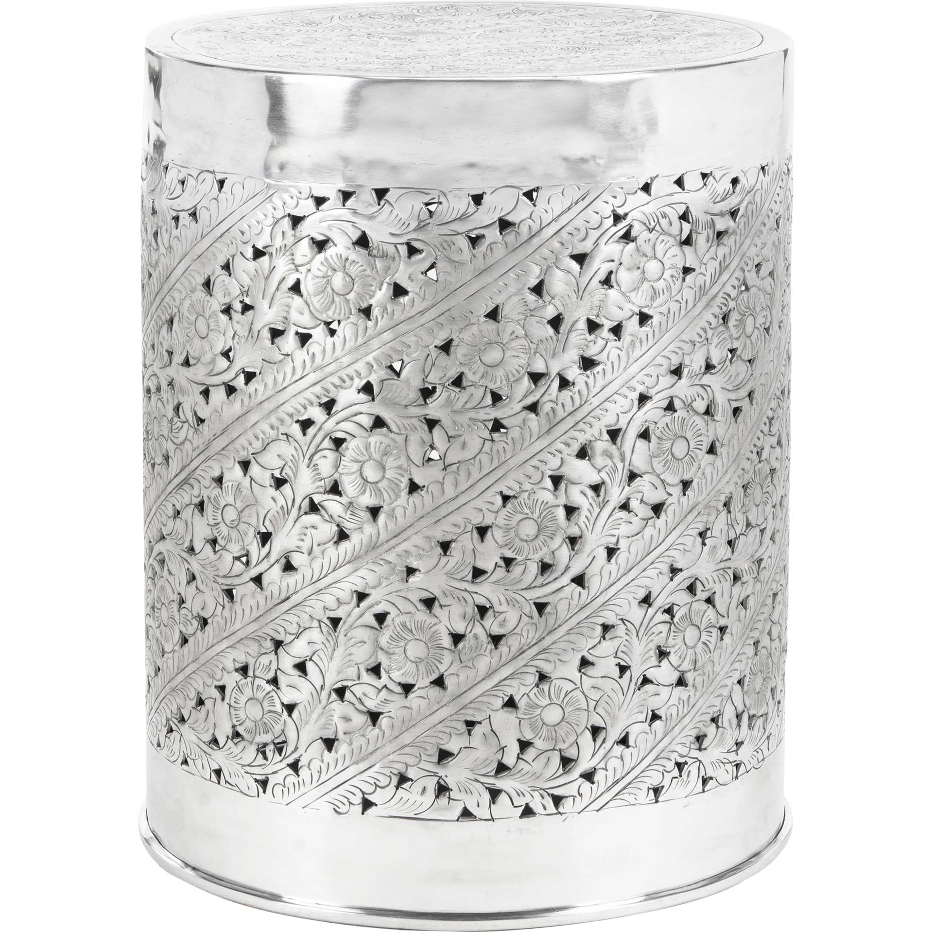 Addie End Table Silver