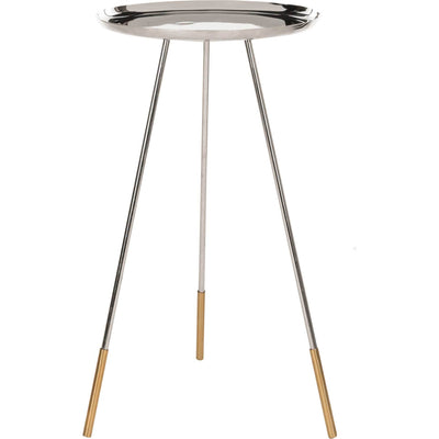 Cain Tri Leg Contemporary Glam Side Table