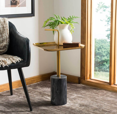 Ariana Square Brass Top Side Table