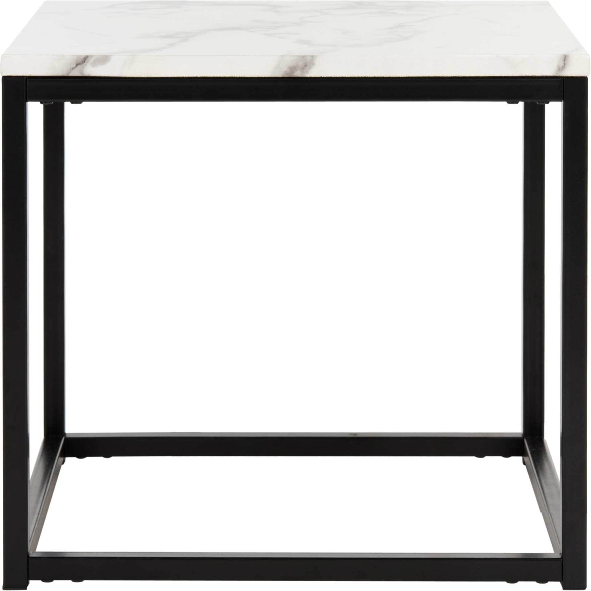 Barbara End Table White/Gray
