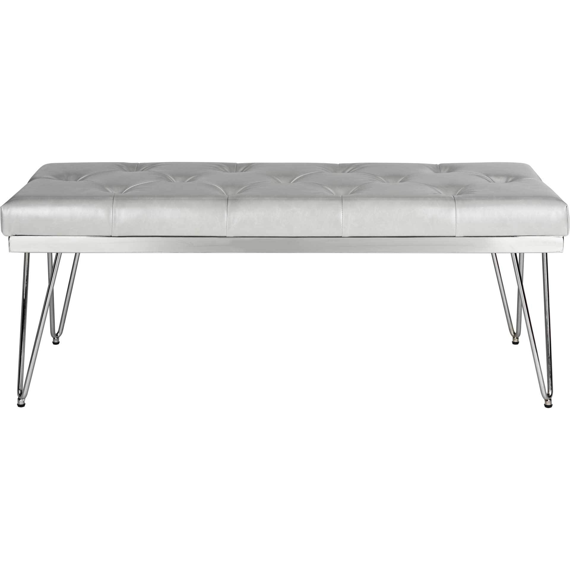 Maxim Bench Gray/Chrome