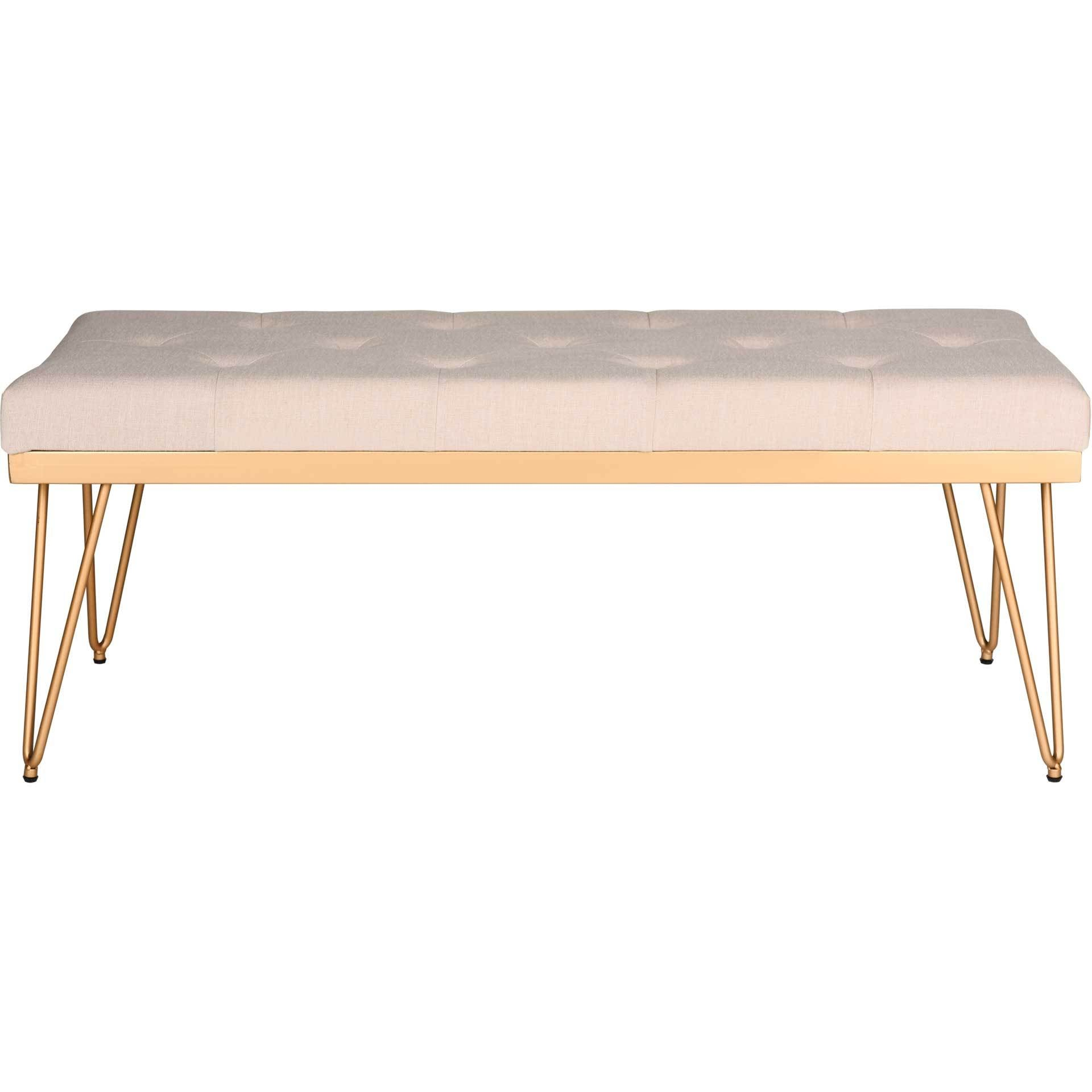 Maxim Bench Beige/Gold