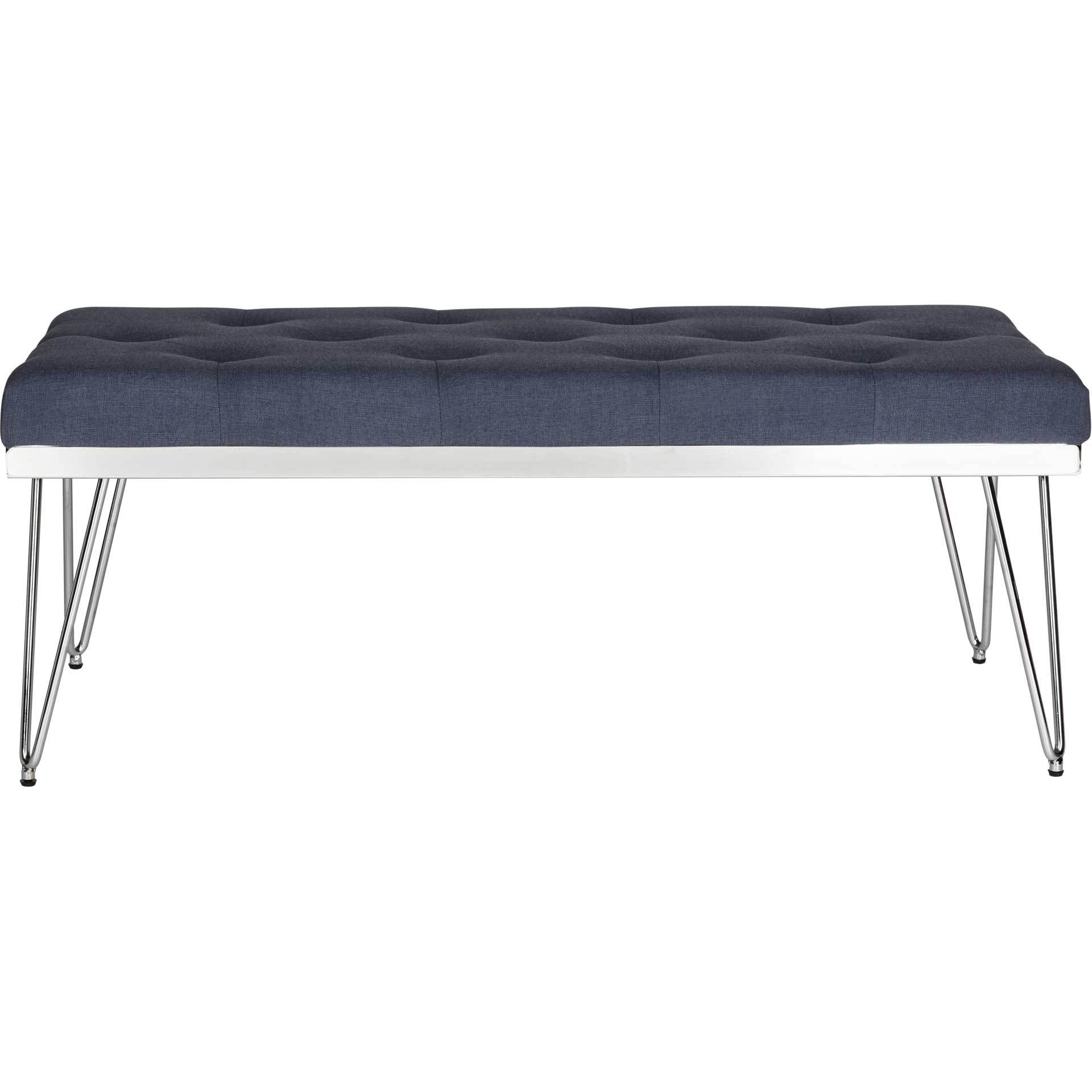 Maxim Bench Navy/Chrome