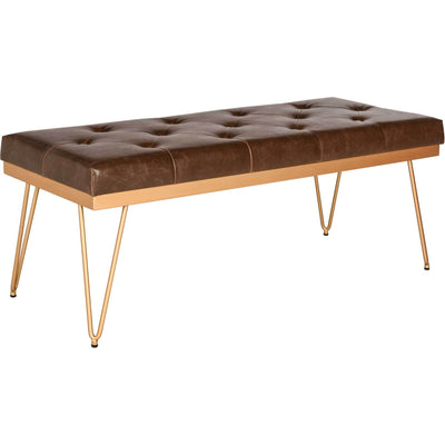 Maxim Bench Brown/Gold