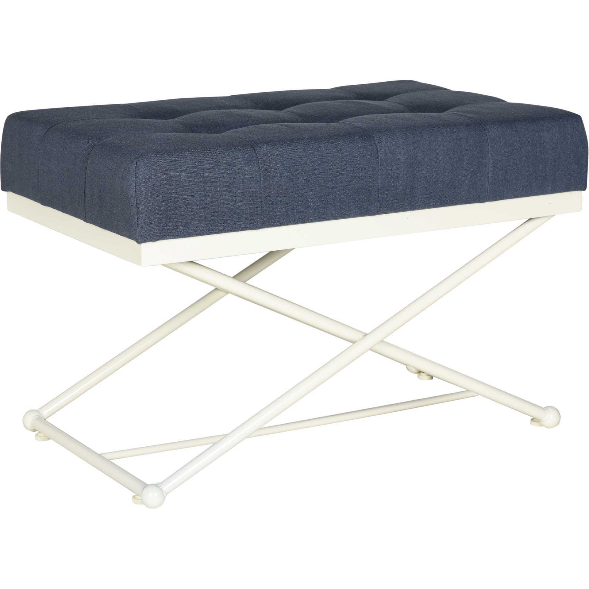 Camila Bench Navy/Cream