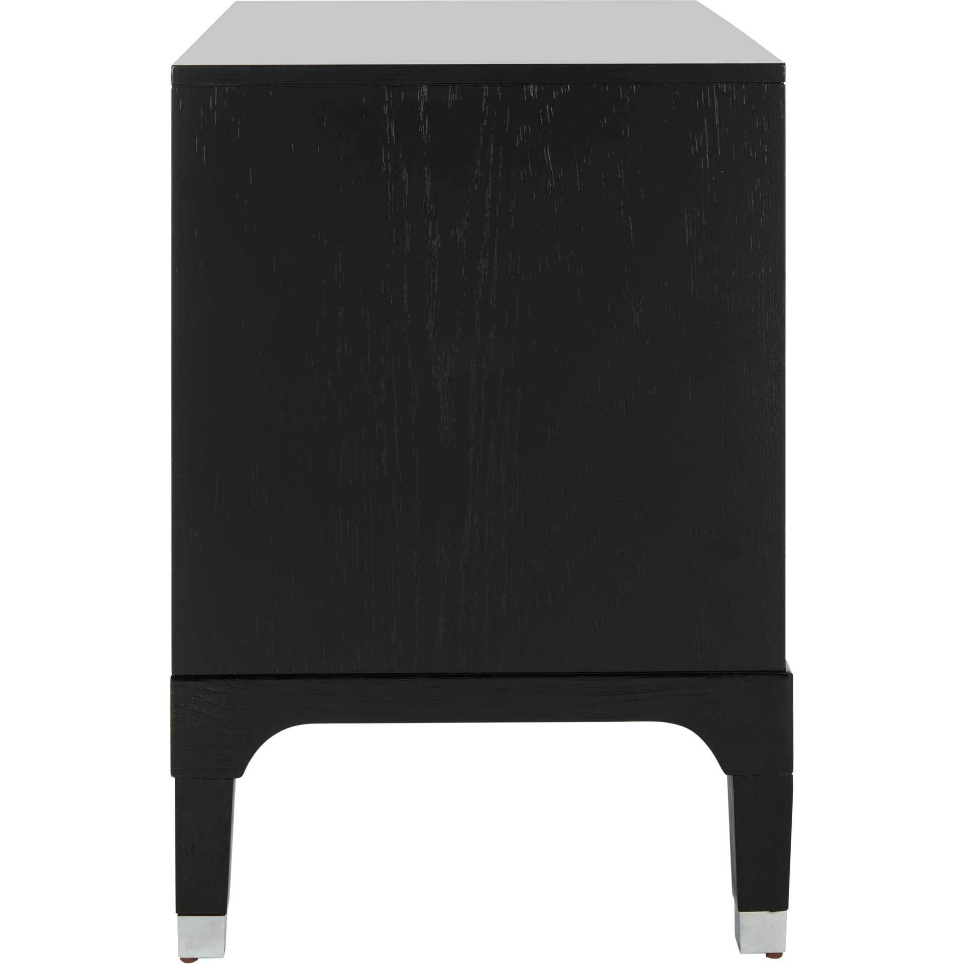 Lorenzo 3 Drawer Contemporary Nightstand Black