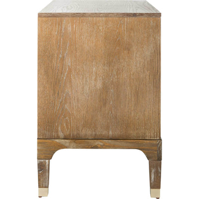 Lorenzo 3 Drawer Contemporary Nightstand Rustic Oak