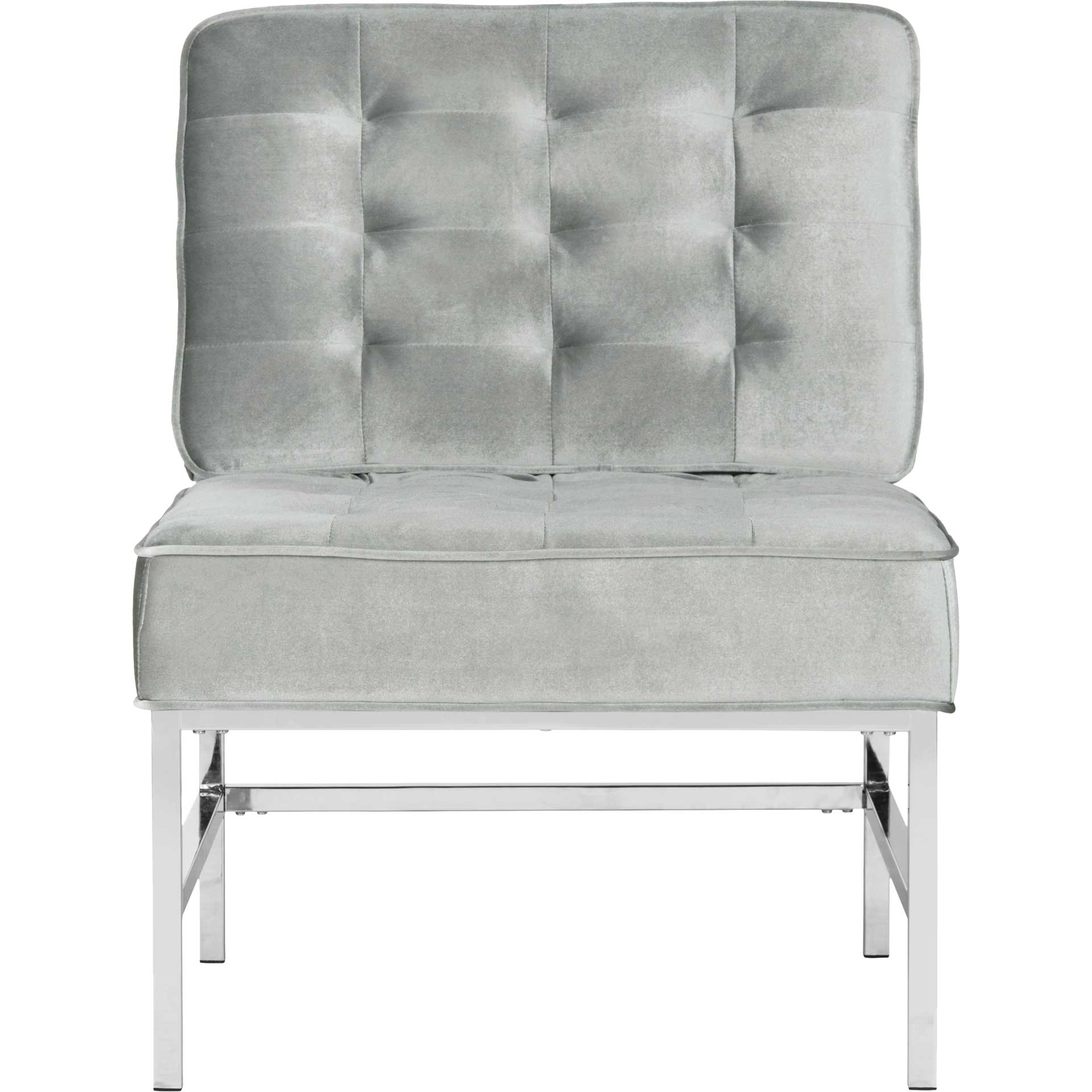 Anticipate Linen Chrome Accent Chair Light Gray