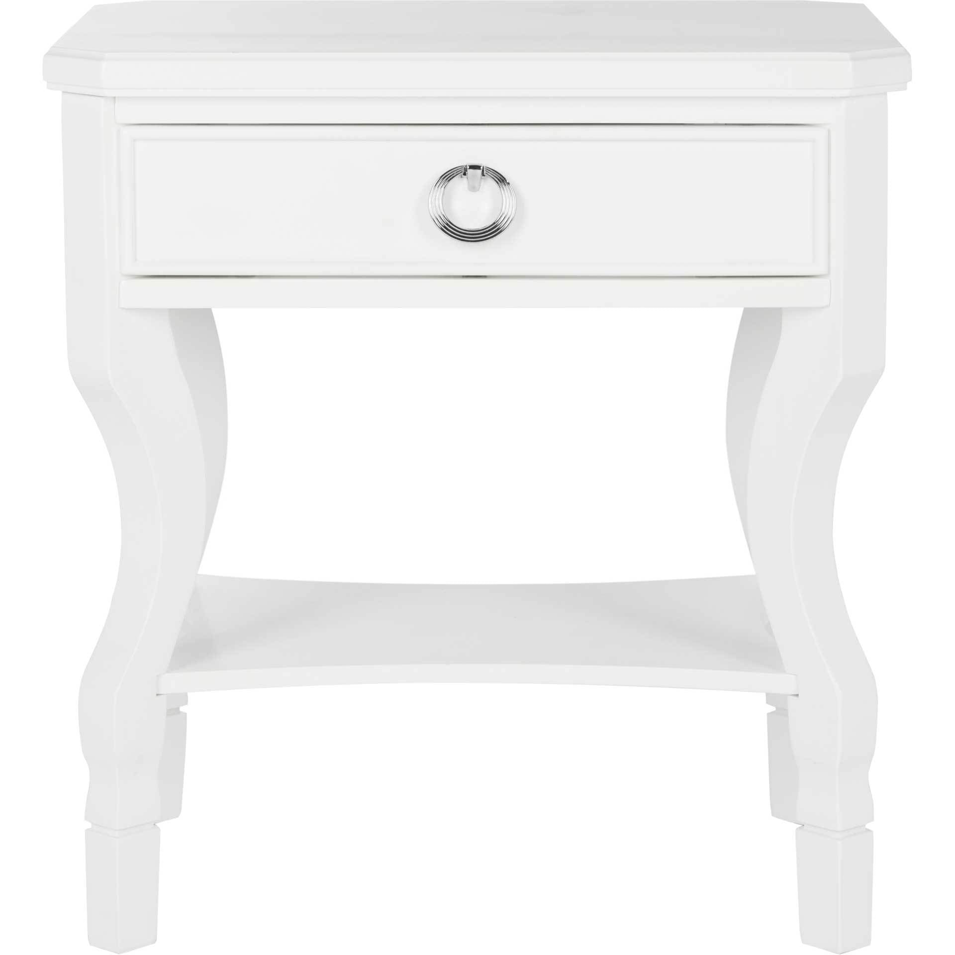 Albert One Drawer Nightstand White