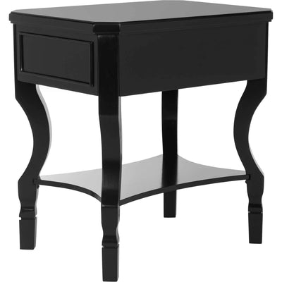 Albert One Drawer Nightstand Black