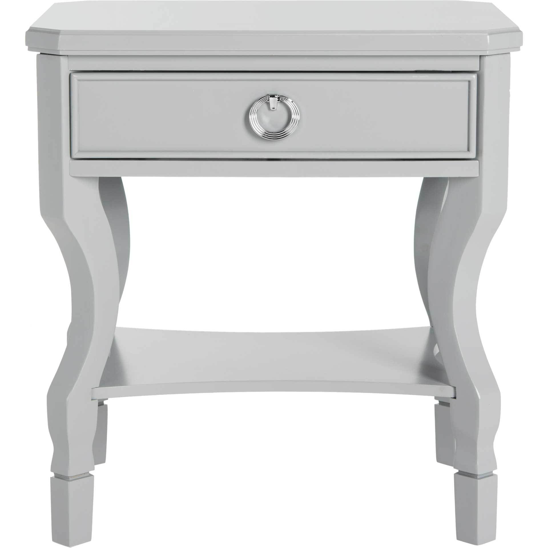 Albert One Drawer Nightstand Gray