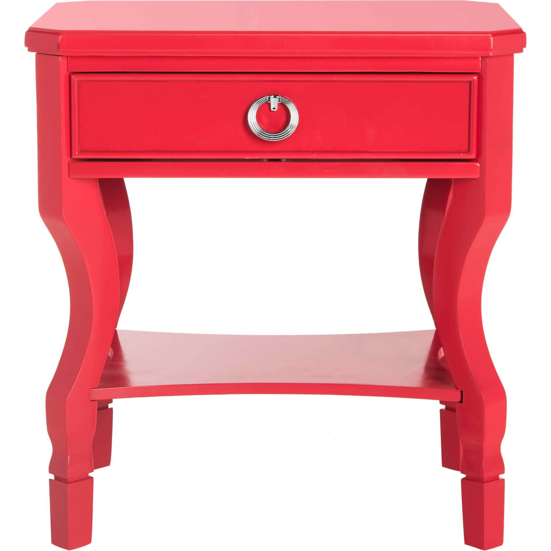Albert One Drawer Nightstand Red
