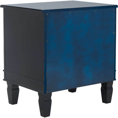 Kinsley Three Drawer Nightstand Navy