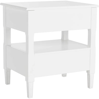 Jenna Two Drawer Nightstand White