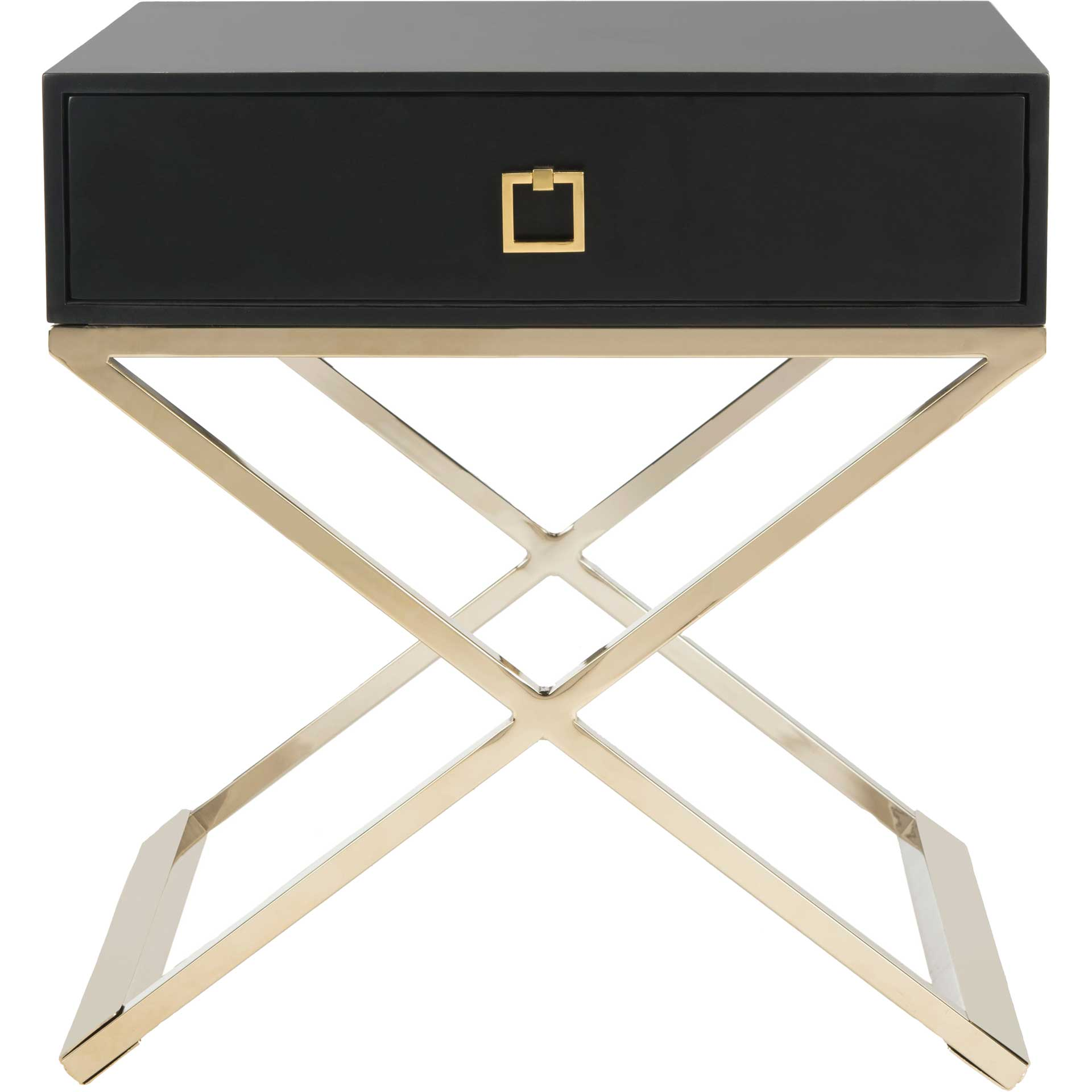 Zariah Modern Cross Leg End Table Black