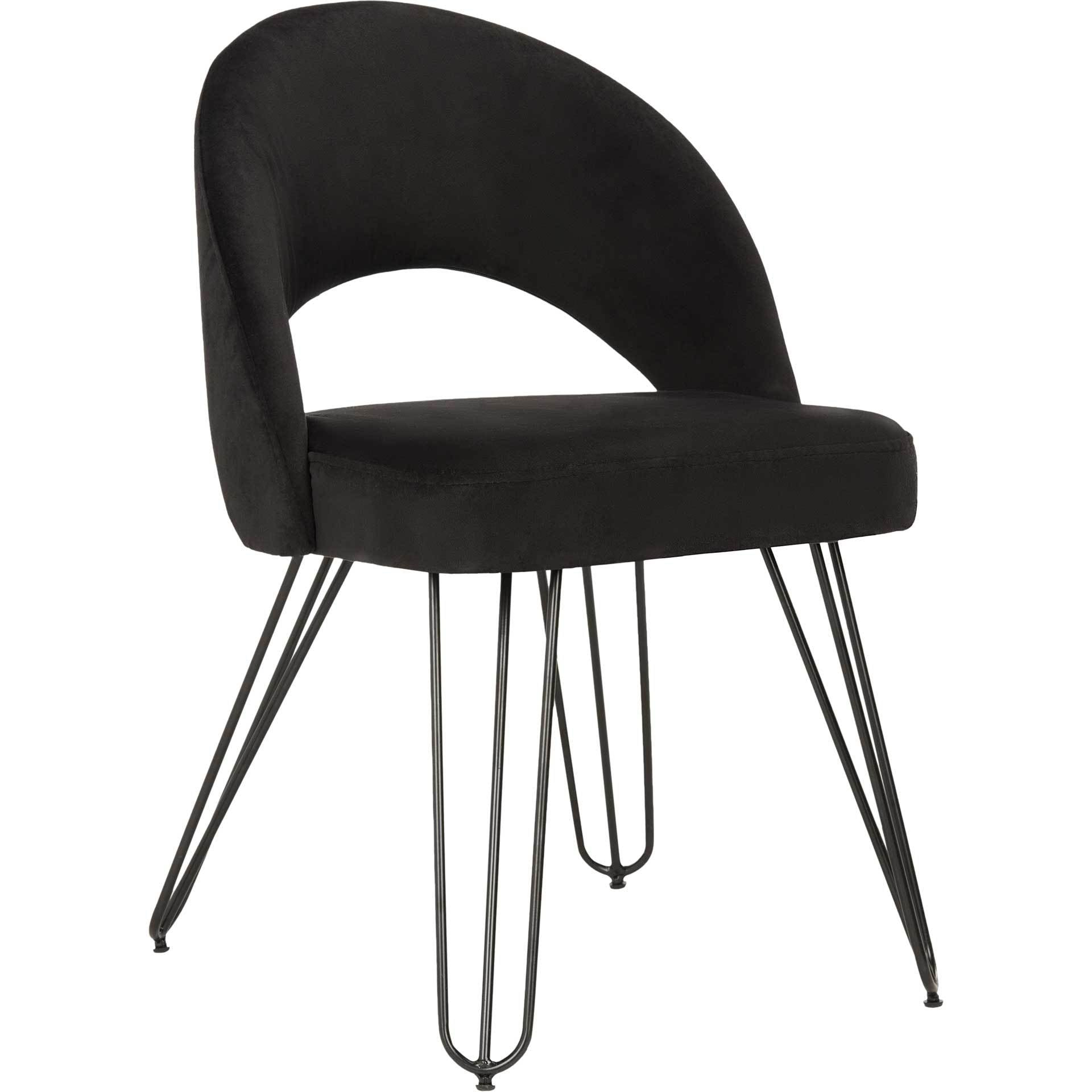 Jolene Velvet Side Chair Black (Set of 2)