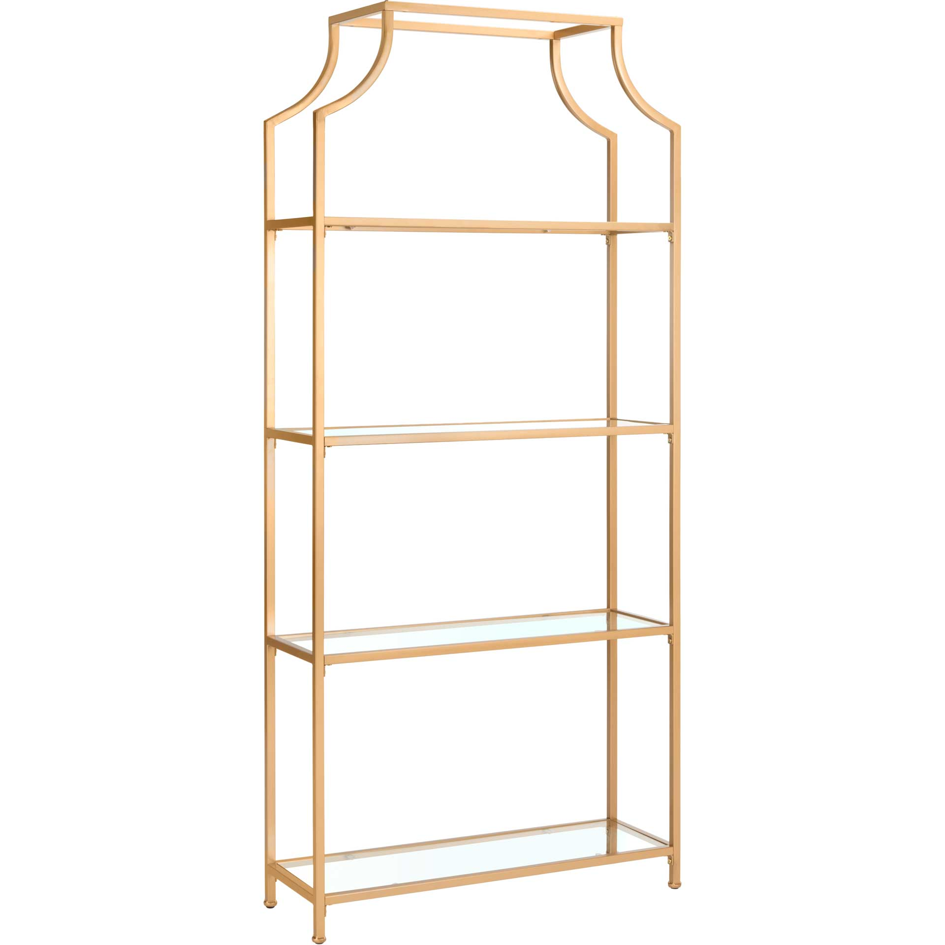 Sloane 4 Tier Etagere Gold