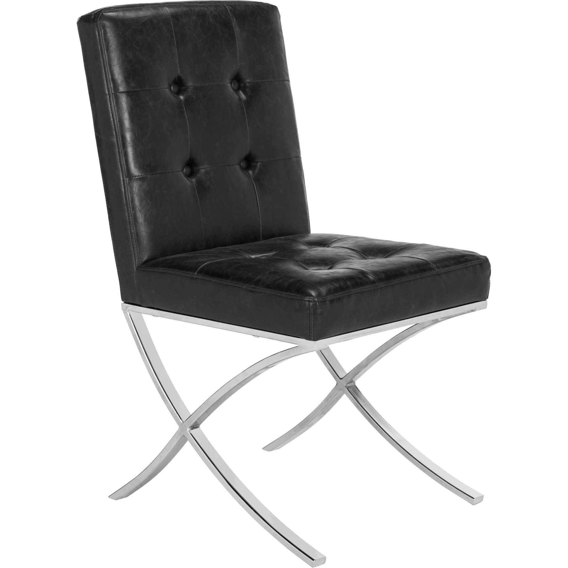 Wade Tufted Side Chair Black