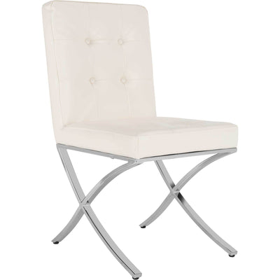 Wade Tufted Side Chair White