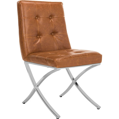 Wade Tufted Side Chair Light Brown