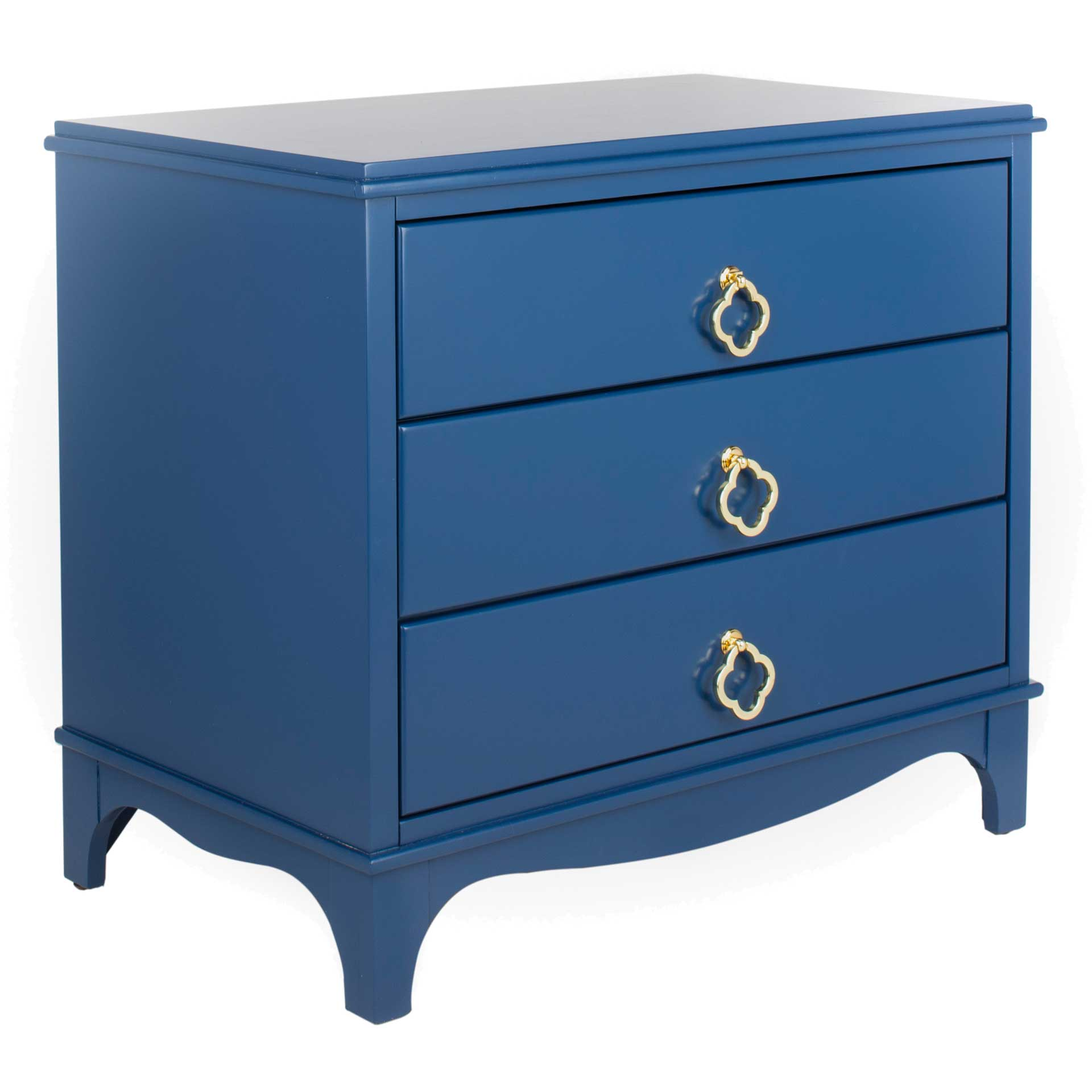 Hamden 3 Drawer Contemporary Nightstand Navy