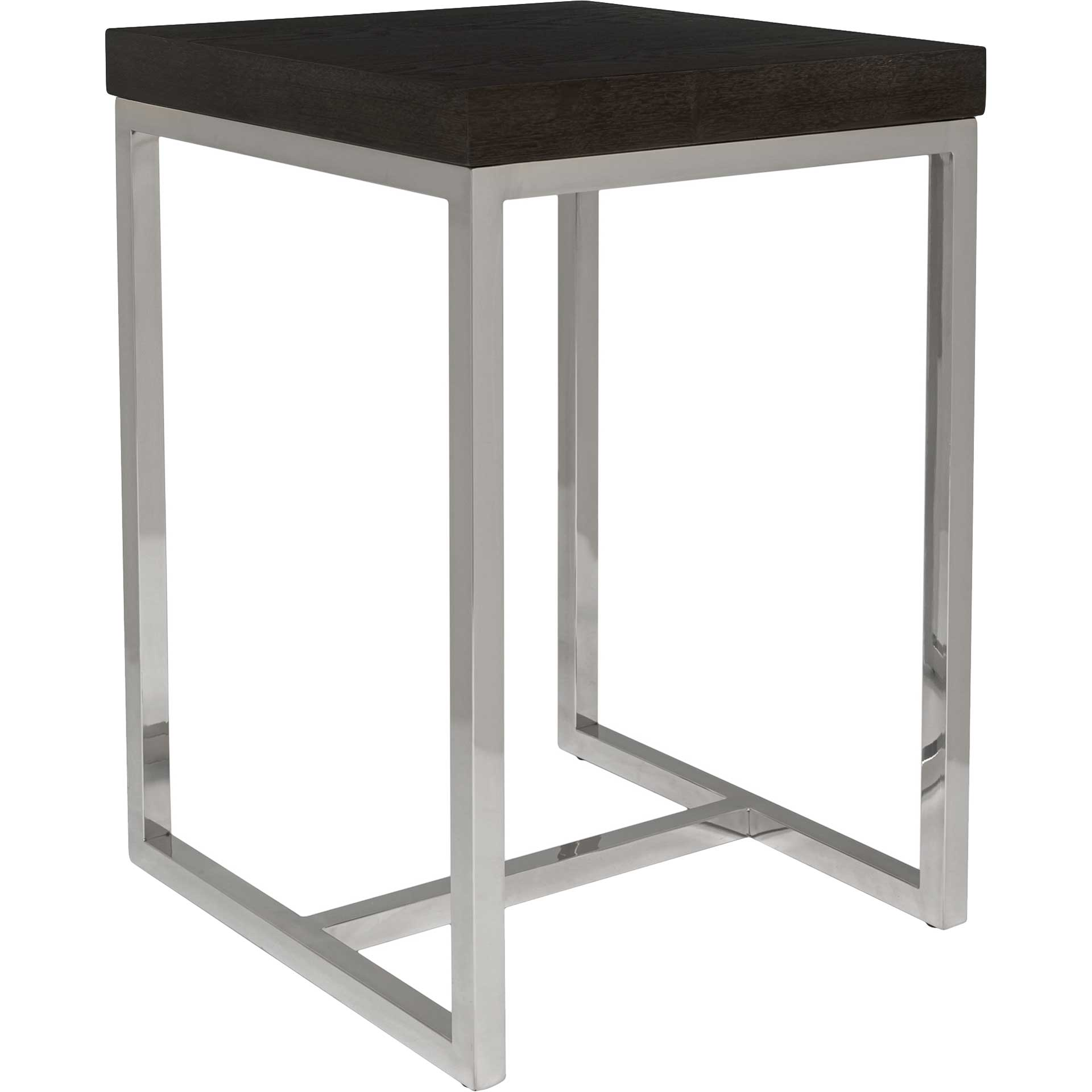 Tullis Black Glass Top Square End Table Black