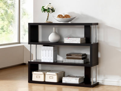 Zhao Bookcase Wenge 3 Tier