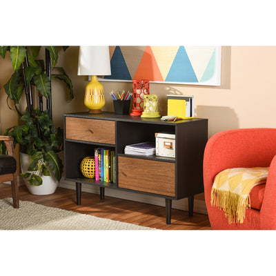 Austin Sideboard Cabinet Black/Walnut
