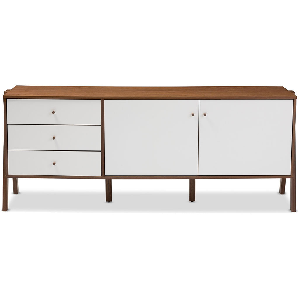 Haven Sideboard Cabinet White/Walnut