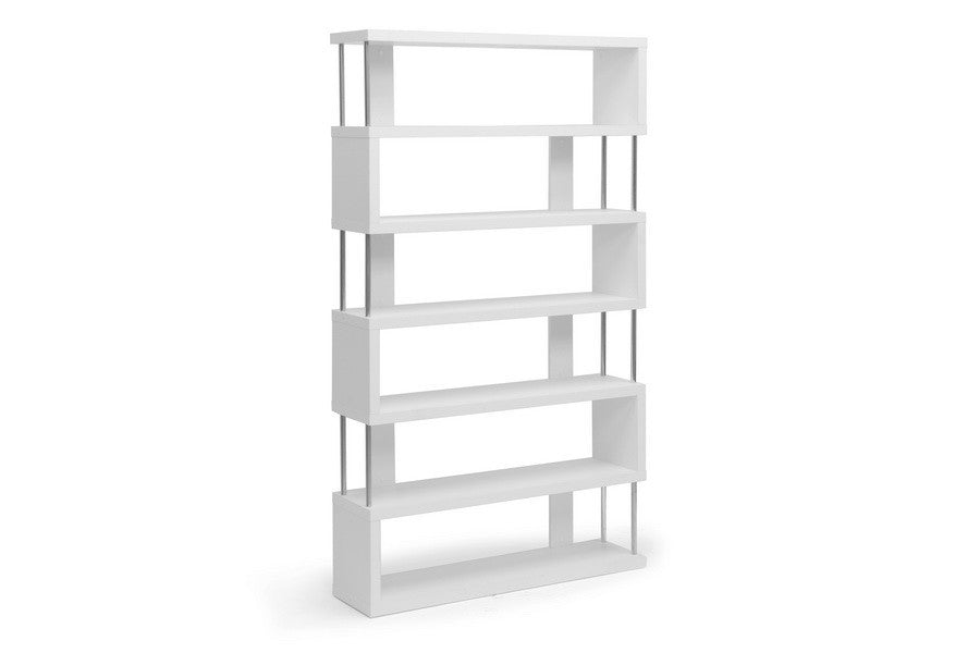 Zhao Bookcase White 6 Tier