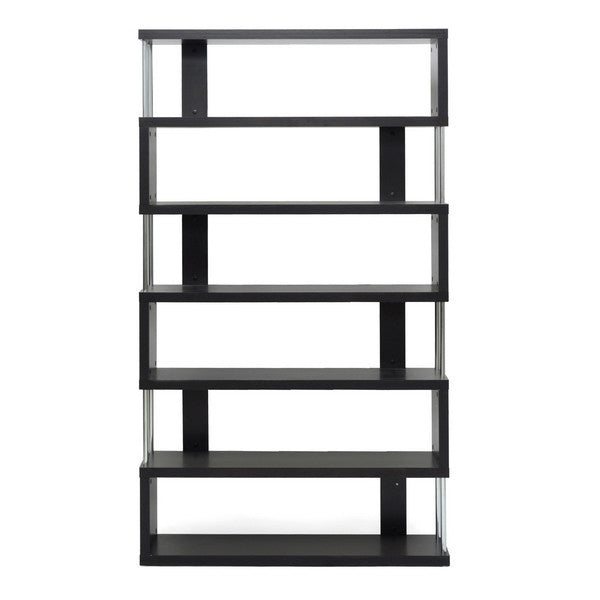 Zhao Bookcase Wenge 6 Tier