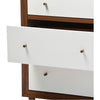 Haven Modern Dresser White/Walnut