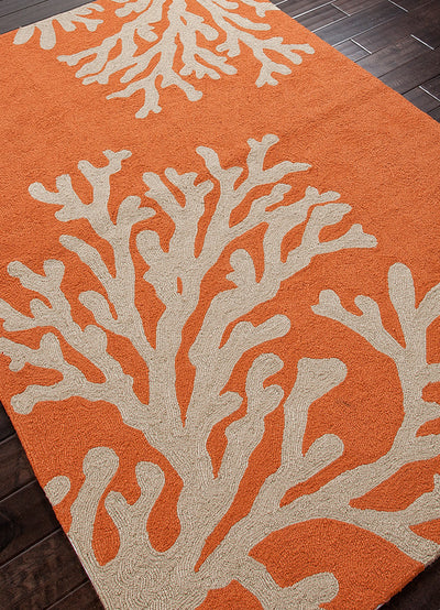Grant Bough Out Orange/Gray Area Rug