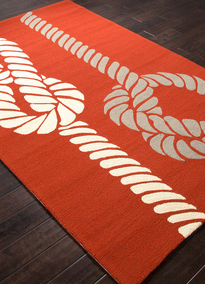Grant Knotty Red/White Area Rug