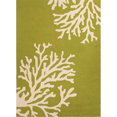 Grant Bough Out Leaf Green Area Rug